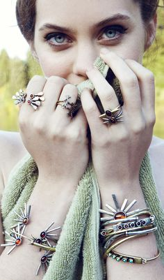 Spurr Ring / Antique Silver with Baltic Amber