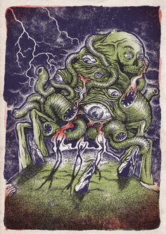 The Dunwich Horror The Dunwich Horror, Yog Sothoth, Cthulhu, Artist Names, Cosmic, Illustration, Painting, Friends, Tattoos