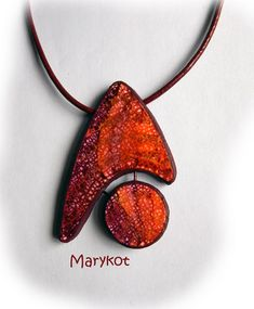 pendentif_batikrouge polymer clay pendant by Marykot | Flickr - Photo Sharing!