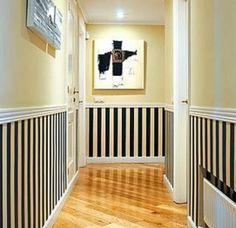 como pintar pasillo largo estrecho                              …