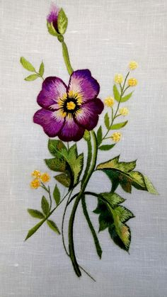 Most Beautiful Machine Embroidery Designs with Embroidery Library Plymouth Mn Crewel Embroidery Kits, Embroidery Materials, Flower Embroidery Designs, Learn Embroidery, Hand Embroidery Patterns, Machine Embroidery Designs, Embroidery Thread, Embroidery Alphabet, Simple Embroidery