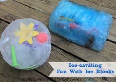 Ice-Cavating: Summer Fun with Ice Blocks