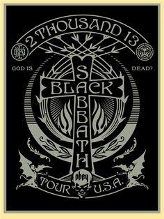 Shepard-Fairey-Black-Sabbath-Silver-Black-Cross-Poster.jpg (563×750)