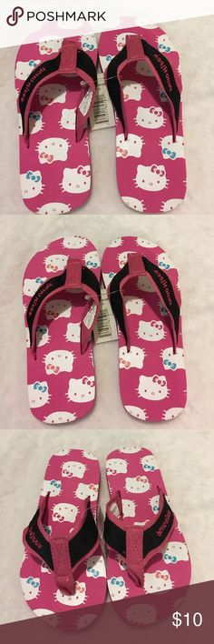 New Hello Kitty Sz 11/12 Girl's Pink Flip Flops New Beautiful Hello Kitty Sz 11/12 Pink White Black Flip Flops Hello Kitty Shoes Sandals & Flip Flops