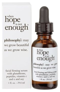 Did you get your vitamin c today??    philosophy 'when hope is not enough' serum | Nordstrom