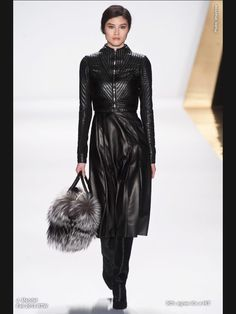The detail work on this trench...OMG! J.Mendel Fall 2013 - leather!