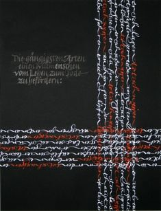 Kalligrafie - freie Kalligrafie