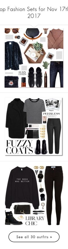 """Top Fashion Sets for Nov 17th, 2017"" by polyvore ❤ liked on Polyvore featuring MANGO, Acne Studios, Levi's, A.F. Vandevorst, Shrimps, Thomas Sabo, NARS Cosmetics, Maybelline, Michael Kors and fuzzycoats"