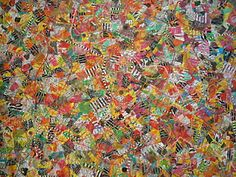 upcycled art quilt - candy wrappers