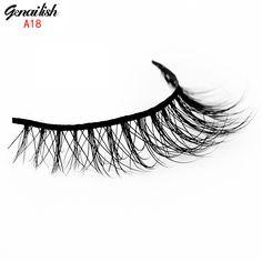 genailis Mink Eyelashes 3D Handmade Cross False Eyelashes individual Natural Lashes Beauty Make up fake Eyelash Extension-A18