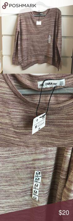 Zara knit size M top NWT Zara knit  Size M  NWT  Pet free smoke free  ships ASAP  94% polyester  6% viscose Zara Tops Blouses