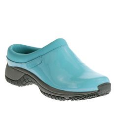 Look what I found on #zulily! Maui Blue Patent Encore Pro Lab Leather Slide Work Shoe #zulilyfinds