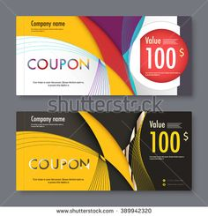 Gift voucher template. promotion card, Coupon design. vector stock. - stock vector