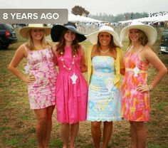 #tbt to a fun time at the @carolinacup Sad to miss it this year!! Hope everyone has as much fun this Saturday as we did 8 years ago!! #carolinacup #didyouseeahorse #thosehatstho #preppy #lillypulitzer #lilly #southernstyle