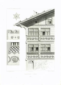 - The world's most private search engine Chalet Interior, Swiss Chalet, Swiss Style, Chalet Style, Architectural Prints, Black Forest, Antique Prints, Plans, Cottage Style