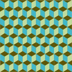 Carreaux de ciment BAHYA motif Cubik Encaustic tiles BAHYA - pattern : Cubik