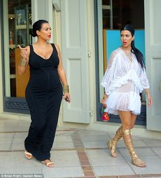 Hard at work: The Kardashian girls were filming an episode of Keeping Up With The Kardashians