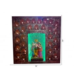 Radha Krishna Standing Surrounded By Deepak Frame @ Rs 10,300/-  Free Home Delivery Available across India.