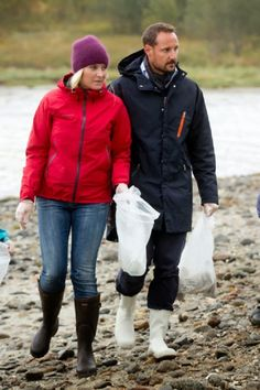 Crown Prince Haakon of Norway and Crown Princess Mette-Marit of Norway visit the community of Steigen,during an official visit to Nordland on 09.09.2014