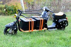 Vespa Cargo Scooter  |  motofocker cargo-scooter blends delivery truck & two-wheeler  |  via designboom