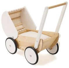 Woodworking For Kids This sweet toy stroller is perfect for small children. Kids will spend so much time playing, and toddlers can practice walking with this wooden toy. Woodworking Projects For Kids, Wooden Projects, Wood Crafts, Woodworking Plans, Pram Toys, Dolls Prams, Modern Kids Toys, Natural Toys, Wood Toys