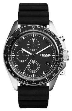 Fossil Men's CH3024 Sport 54 Chronograph Black Silicone Watch