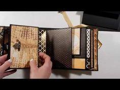 Golden Romance 6x6 Mini Album Tutorial - Part 1 - YouTube