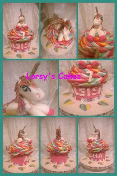 Unicorn Giant Cupcake Birthday cake
