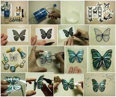 Diy plastic bottles butterflies