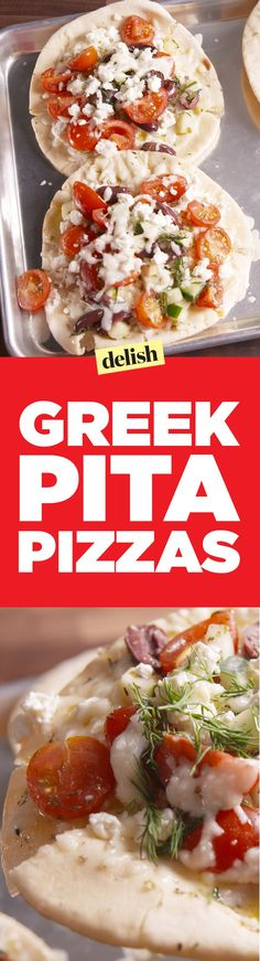 Greek pita pizzas are a healthy twist on your favorite carb. Get the recipe on…
