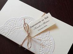 -15% RUSTYKALNE zaproszenie z serwetką papierową
