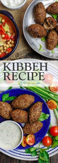 Kibbeh - Kibbeh are more than meatballs; they are Middle Eastern croquettes made of bulgur wheat, ground beef or lamb, onions, pine nuts and earthy Middle Eastern spices. They can be fried or baked for the perfect appetizer or side dish. Lebanese Recipes, Turkish Recipes, Greek Recipes, Indian Food Recipes, Ethnic Recipes, Arabic Recipes, Syrian Recipes, Moroccan Recipes, Lebanese Cuisine
