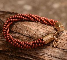Kumihimo Bracelet with Artisan Bronze Fittings by JitterbugsAttic
