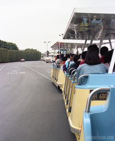 The old yellow and blue parking lot tram that shuttled you to Disneyland when I was a kid.