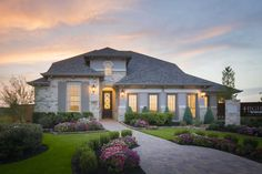 Highland Homes plan 556 Model Home in Austin Texas, Paloma Lake 55s community