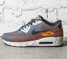 Nike Air Max 90 Jacquard-Atomic Orange-Squadron Blue