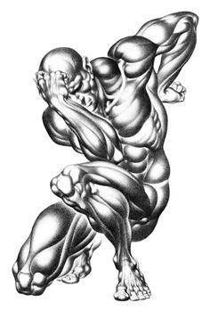 Ecorché de burne hogarth. Un exemple d'anatomie simplifiée!