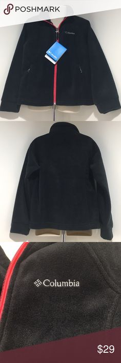 NWT Girls XS 6/6X Columbia Fleece Jacket Black/Red NWT Girls Three Lakes Full Zip Fleece Jacket Black with red zipper comes from a smoke & pet free home, thank you for stopping by my closet Happy Poshing💖 Columbia Jackets & Coats