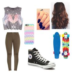 """Untitled #95"" by arielfittry on Polyvore featuring Forever 21, Converse and Casetify"