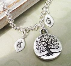 Family Tree   Silver Tree Of Life Personalized by Kikiburrabeads, $18.50