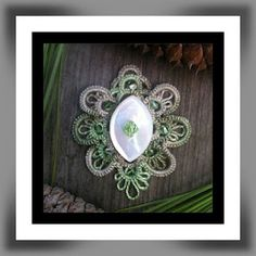 """""""Awaiting Spring"""" pendant, original design, needle tatted  Is this beautiful or what...!!!"""