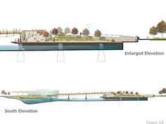 Constructed wetland detail section climate change issues for Buro design luxembourg