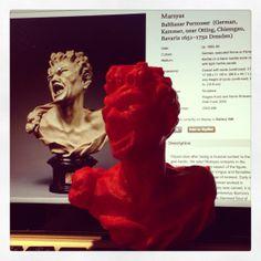 Marsyas, 2013, Makerbot replica of Balthasar Permoser, Marsyas, 1680-85.