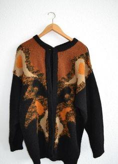 Kup mój przedmiot na #vintedpl http://www.vinted.pl/damska-odziez/kardigany/10385146-brazowo-czarny-oversizowy-kardigan
