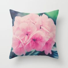 Bridesmaids Throw Pillow by Ia Loredana | Society6   #Pillow #AreaPillow #ThrowPillow #artprint #print #natureprint #floral print #colorprint #photographyprint #outdoordecor #indoordecor pink-pillow