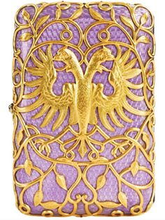 Cigarette-case, ca. 1897. August Holstrem of The Faberge House