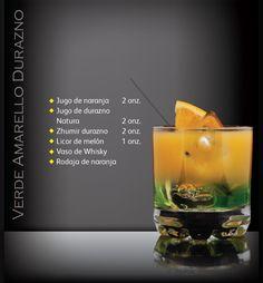 ¿Te gusta el durazno?. Prueba Verde Amarello. Coctel Latin Spirit Zhumir. Conoce más cocteles ingresando aquí: https://www.facebook.com/ZhumirEcuador/app_239454309409452