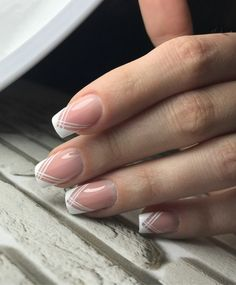 Dashing Clear Nails White French Tips #manicure #frenchtips #nails #summernails #frenchnails
