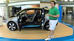Joshua Moniz, the BMW of Asheville Genius; doing a walk around of the 2014 BMW i3.