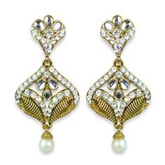 Johara Gold Spade Ethnic Earrings || Available on ► www.vmfashion.com
